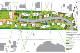 Plans d'aménagement d'un lotissement de maisons à Villers-Cotterêts