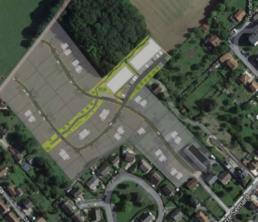 Photo aérienne pour la construction de maisons à Etampes sur Marne