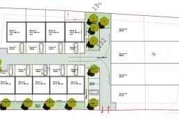 Plans d'aménagement d'un lotissement de logements à Corbeny