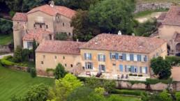 Photo aérienne de la maison de Brad Pitt et Angélina Jolie
