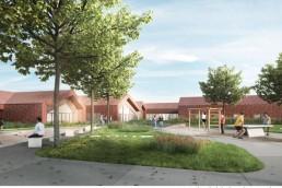Image 3d construction d'un foyer d'accueil médicalisé à Vouziers