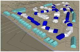 Plan vue aérienne 3D d'études de faisabilité sur terrains nus et sur existants sur la Commune de Chelles (placement logement)