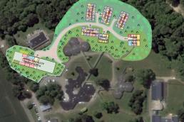 Vue aérienne plan aménagement Opal Coyolles
