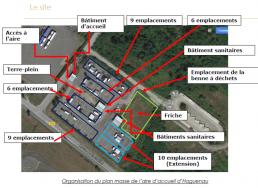 Plan vue aérienne rénovation de l'aire d'accueil des gens du voyage de Haguenau.