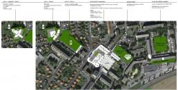 Vue aérienne aménagement rénovation du quartier Champagne à Laon