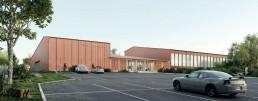 Salle polyvalente et gymnase à Presles en Brie en Ile de France