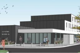Représentation 3d centre médicale Soisson