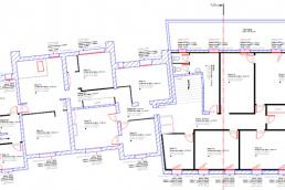 Plan 2d implantation DSPIP anciens locaux du SDIS à Laon