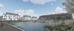 Plan 3D aménagement emprise militaire de l'ancienne Caserne Chanzy Châlons en Champagne