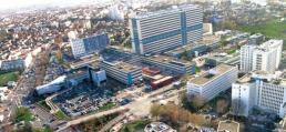 Vue aerienne Hopitaux Universitaire Henri Mondor Creteil