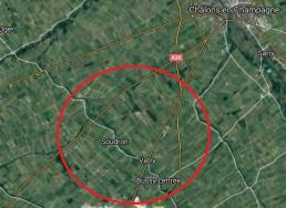 carte aérienne Soudron Vatry Bussy-lettree